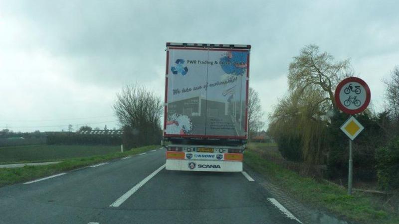 Achterkant vrachtwagen 3D impressie