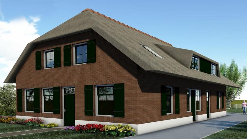 3D impressie landelijke Villa Delwijnen