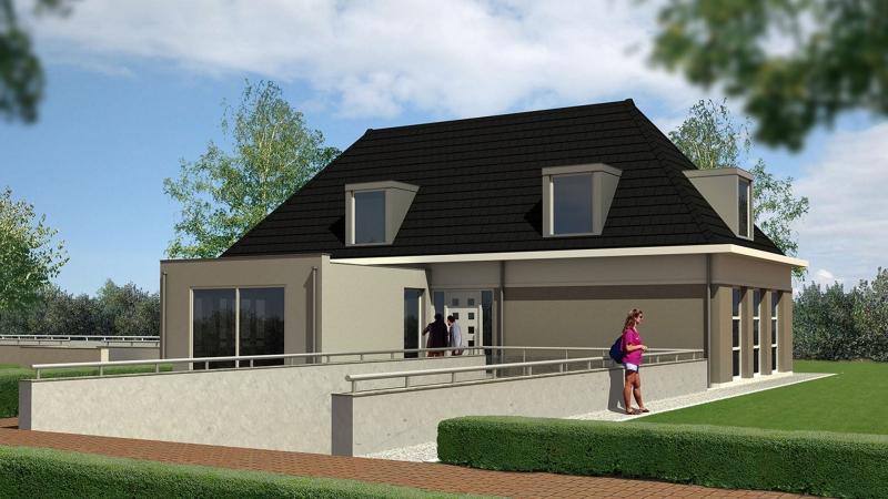 3D impressie villa Land van Esscheweg te Strijen