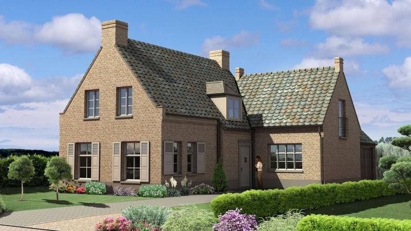 3D impressie Villa Zuideinde te Rotterdam
