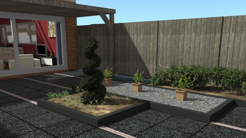 Tuinontwerp ruimtelijk en modern