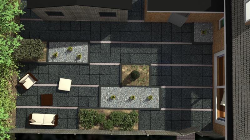 3D plattegrond tuinontwerp