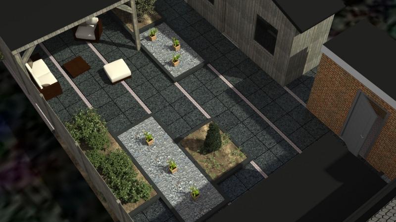 3D impressie tuinontwerp