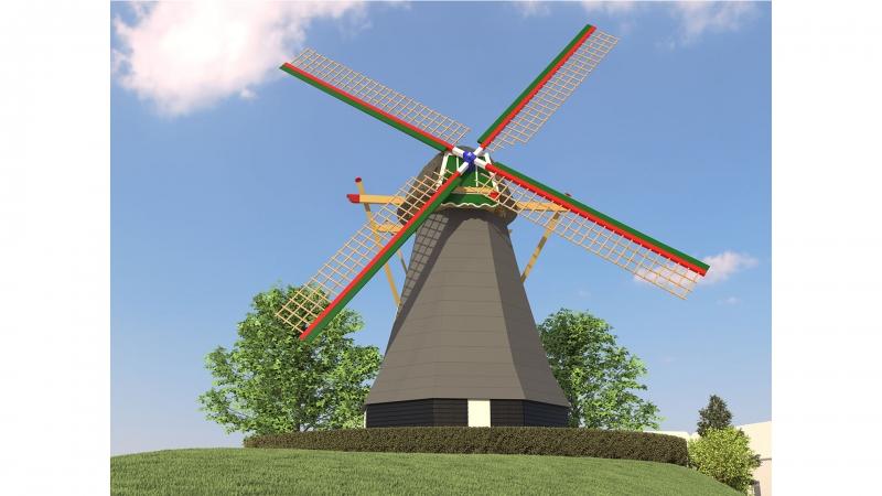 Impressie molen Nooitgedacht te Arnemuiden