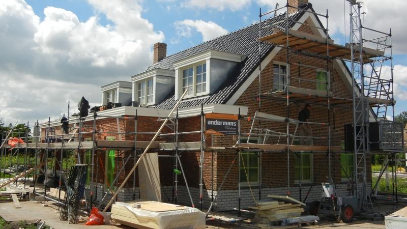 Villa in aanbouw