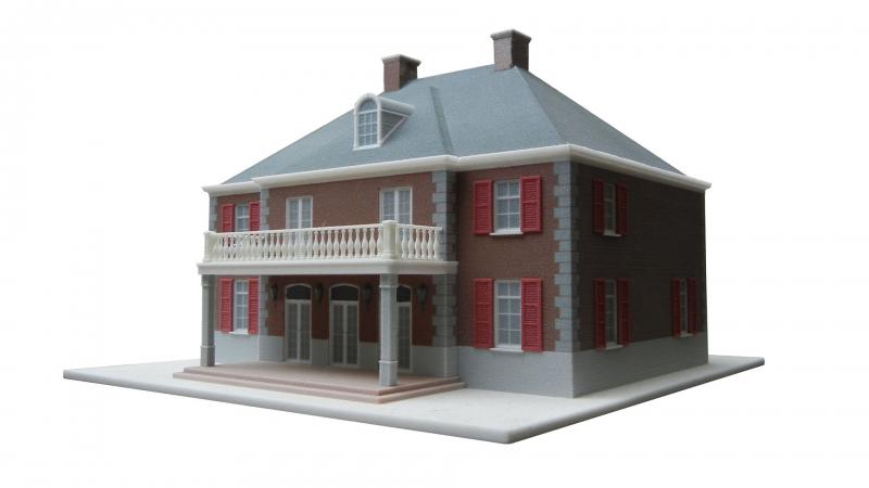3D geprint model schaal 1 op 100