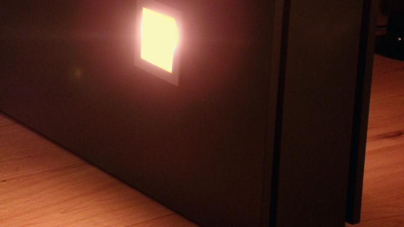 Detail aansluiting wand verlichting
