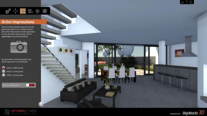 Screenshot interactieve 3D presentatie interieur