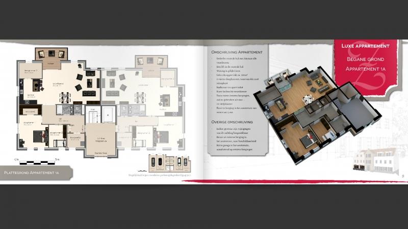 Bladzijde uit brochure energieneutrale appartementen Zinkweg Oud-Beijerland