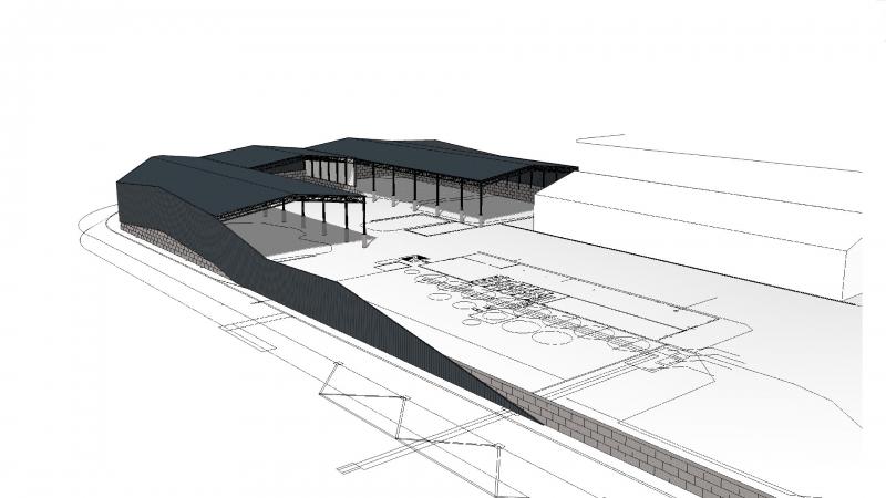 3D impressie ontwerp terrein Filcom Wessem