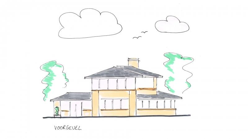 Voorgevel energieneutrale villa Ridderkerk