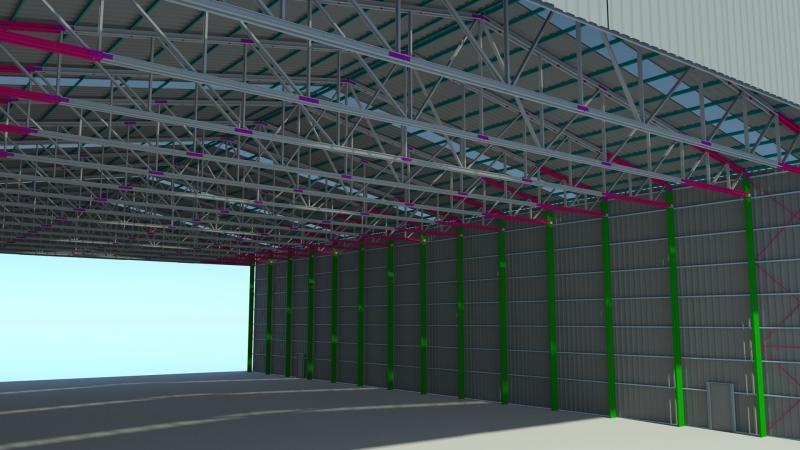 3D tekening loods Arcelor Mittal