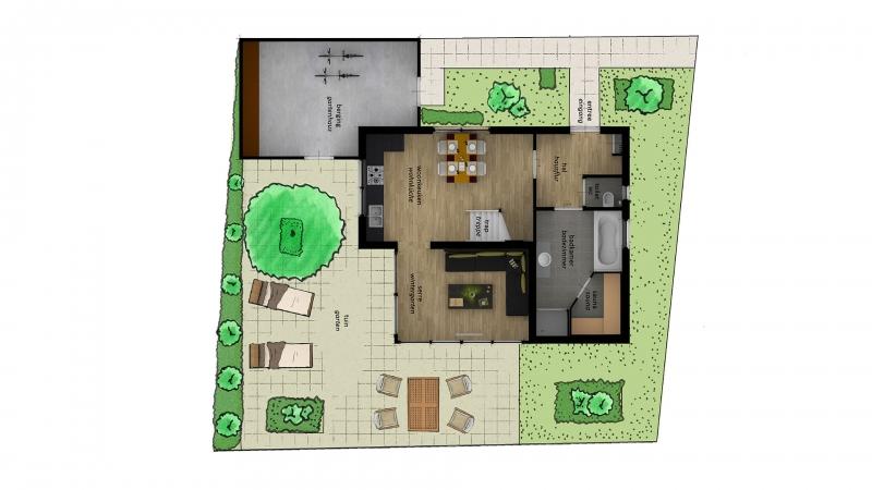 eerste verdieping recreatiewoning proso plattegrond